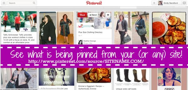 See who is pinning from your website or blog.